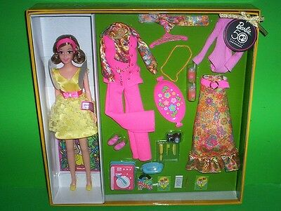 Barbie BECKY MOST MOD PARTY Gold Label 50th Anniversary NRFB 3 Outfits Accessory