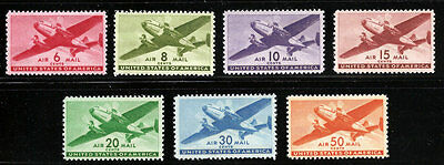 C25 - C31 Mint Nh Airmail Transport Set Vf Or Better Center , Free Shipping