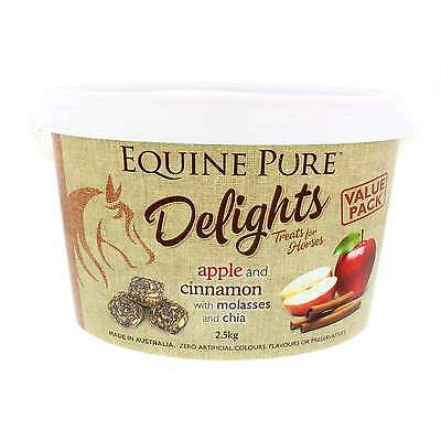 Equine Pure Delights Horse Treat Apple and Cinnamon with Molasses and Chia 2.5kg