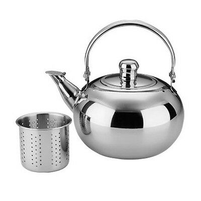 1L Stainless Steel Outdoor Campfire Kettle Teapot Camping Water Coffee Pot NEW