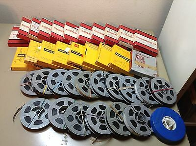 Large Kodachrome Super 8 home movies lot Horse show, skiing, misc