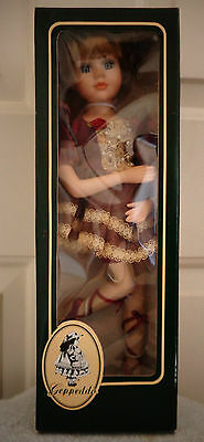 "Geppeddo Jeannette Porcelin Ballerina Doll 15"" 16C073 New In Box"