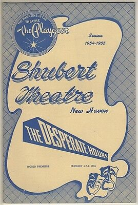 """Paul Newman Playbill """"The Desperate Hours"""" 1955 TRYOUT Karl Malden"""