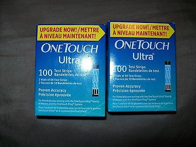 200 One Touch Ultra Diabetic Test Strips Exp.Date 03/2018