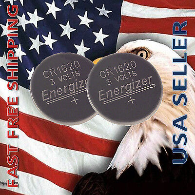 **FRESHLY NEW** 2x Energizer CR1620 Lithium Battery 3V Coin Cell Exp 2024