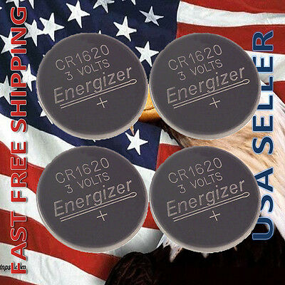 **FRESHLY NEW** 4x Energizer CR1620 Lithium Battery 3V Coin Cell Exp 2024