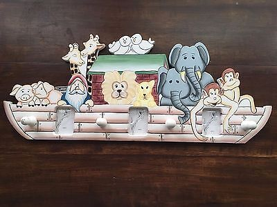 Children's Noah's Ark Hanging Picture Frame With Wooden Knobs