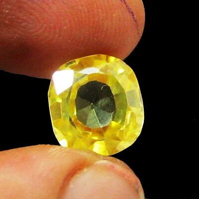 8.00Ct. + Natural Oval Cut AAA Yellow Sapphire Loose Gemstone ks 5198