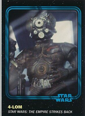 #38 4-LOM 2016 Topps Star Wars Trader Physical card w/UNUSED CODE BLUE