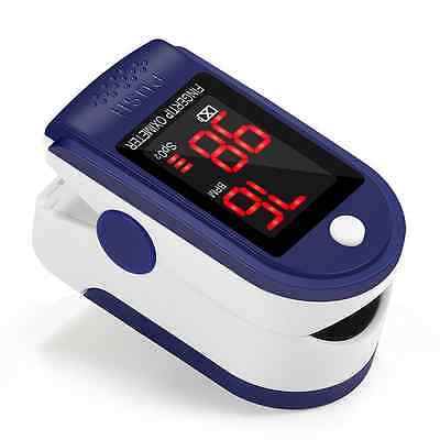 Finger Pulse Oximeter Portable Heart Rate Monitor Spo2 with LED Display for Fami