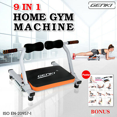 Genki 9 in1 Smart Body Exercise System Ab Workout Fitness Train Home Gym Machine