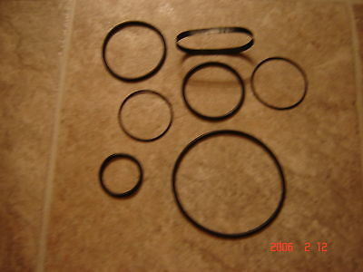 Gaf Anscovision,2788,2788Z, Projector Belts, 7 Belt Set
