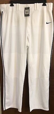 New!! 2 Pair Nike Lights Out Baseball Softball Pant White W/ Blue And Red Piping