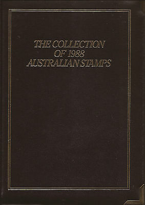 Australia, 1988 Yearbook, Exec Edition, with stamps in place