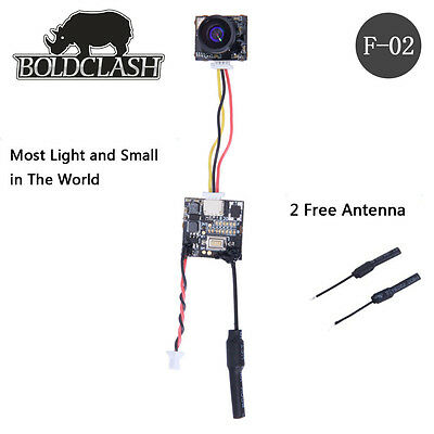 boldclash f-02 aio 5.8ghz 25 mw 4.6g 48ch inductrix caméra tx minuscules whoop