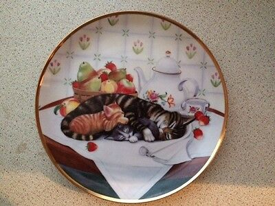 Franklin Mint 'cat Nap' Plate  Limited Edition