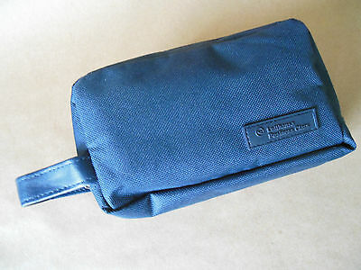RARE LUFTHANSA BUSINESS CLASS Navy Blue Amenity Travel Bag COMPLETE SEALED