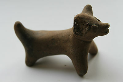 ANCIENT LURISTAN/ NEAR EASTERN POTTERY FIGURE OF A DOG/RAM c. 800 BC