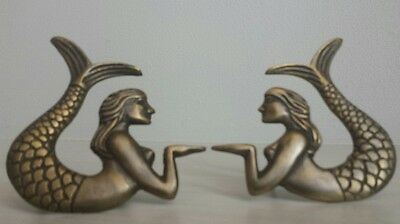 Gorgeous Set Of (2) Unique High Quality Solid Brass Mermaid Door Handles!
