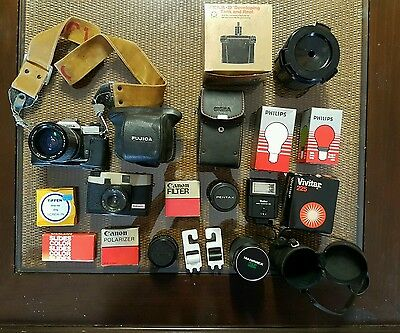 Vintage cameras, lenses, flash and accessories
