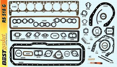 Buick 40-50 Small Series Straight 8 Full Gasket Set 233 248 263 1934-1953