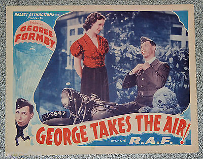 George Takes the Air ORIGINAL US lobby card  George Formby with the R.A.F