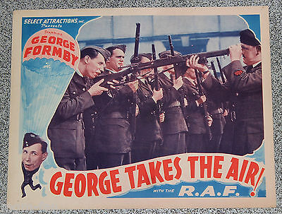 George Takes the Air ORIGINAL US lobby card  George Formby with the R.A.F Great
