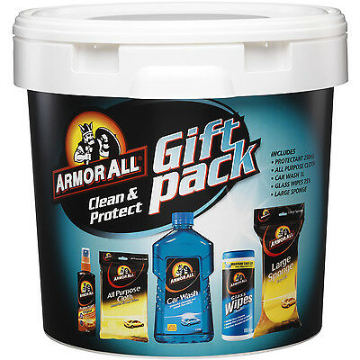 Armor All Clean & Protect Gift Pack Car Wash Protectant Sponge Bucket Armour