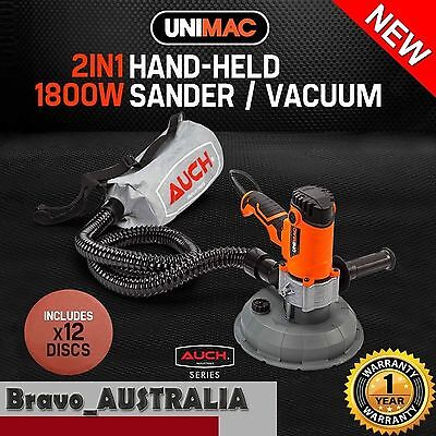 2 in 1 Drywall Sander Automatic Vacuum System Gyprock Plaster Dust Free Sanding