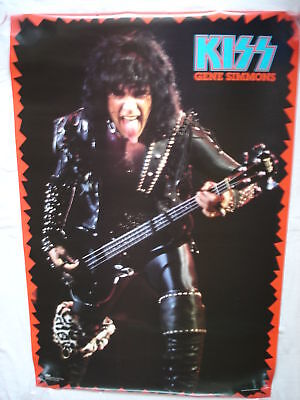 Kiss ~ Gene Simmons Official Winterland Poster'85 New
