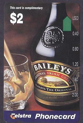 *PHONECARDS.MINT.$2.00 BAILEYS COMPLIMENTARY.In folder/jacket.*