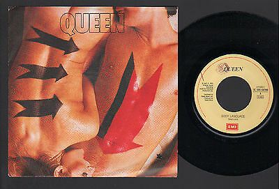 "7"" Single Queen Body Language / Life Is Real Italy Emi 1982 Mint Condition"