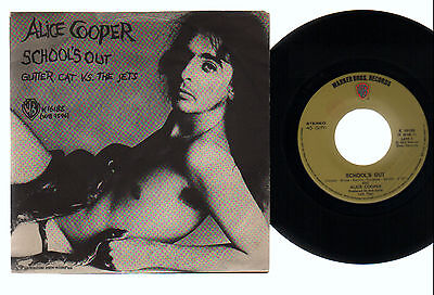 "7"" Alice Cooper School's Out / Gutter Cat... Original Italy 1972 Glam Hard Rock"
