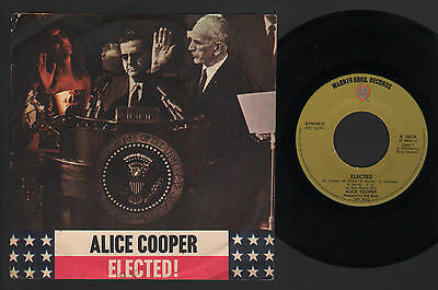 "7"" Alice Cooper Elected / Luney Tune Warner Bros. 1972 Made In Italy Dunaway"