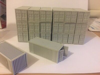 20 Ft Containers Stackable Opening Doors Ho 1:87 New X 20