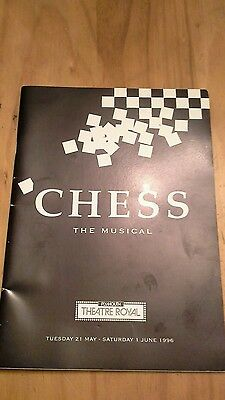 ABBA.  CHESS the musical theatre programme