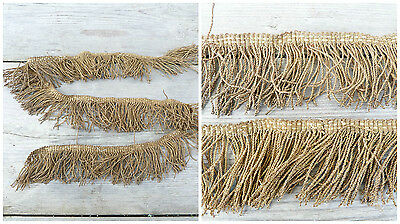 XIX eme century old French metallic golden fringes /vestment/lithurgic 31.5x2