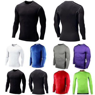 Top Quality-Mens Compression Thermal Under Base Layer Tops Sports Tights T-shirt