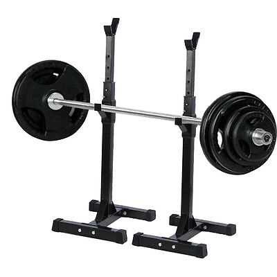 2017 Heavy Duty Gym Squat Barbell Power Rack Stand Adjustable Press Weight Bench