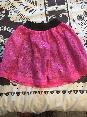 Girls River Island Pink Sequin Skirt 5-6years