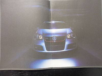 VOLKSWAGEN GOLF GTI Mk5 ** Very Rare Rockingham Brochure **HIGHLY COLLECTABLE**