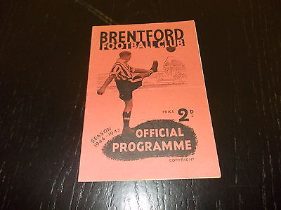Brentford v Derby County  8th Oct 1946  Football League Div 1