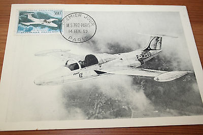 CM Carte maximum FDC Ier jour Aviation MS 760 Paris 1959 Y PA 35 Cote 12€ MF C1