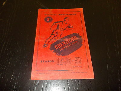 Brentford v Grimsby Town  31st March 1951  Football League Div 2