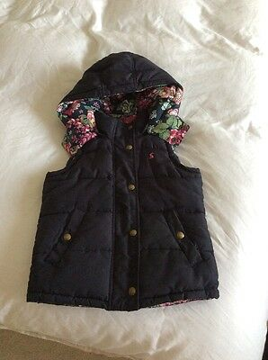 Black Joules Gilet Age 6 Yrs with floral lining