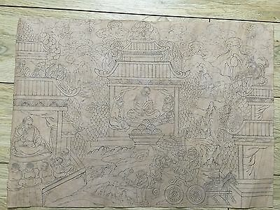 Mongolian Antique Buddhist  Old Hand PAINT 18c- 19c (HIGH QUALITY )