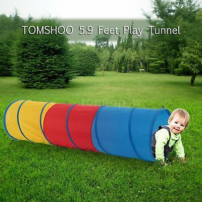 6-feet Play Tunnel Toy Tent Child Kids Pop up Discovery Tube Playtent O9W1