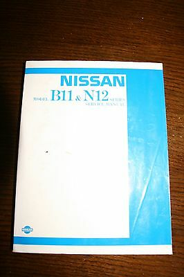 Nissan Sunny B11 and N12 Official Service Manual