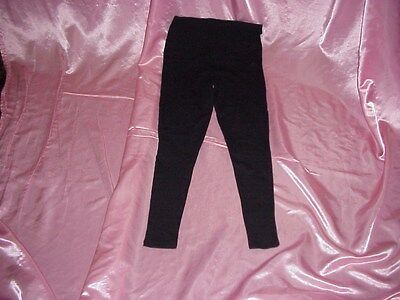 New Maternity OH MAMMA Black Cotton/Spandex Stretch ANKLE Leggings S WAIST 28/34