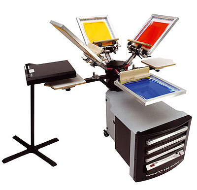 Screen Printing Equipment - Print Shop 770 Deluxe  4 Station 4 Colour Package